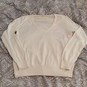 J.Crew off white V-neck sweater